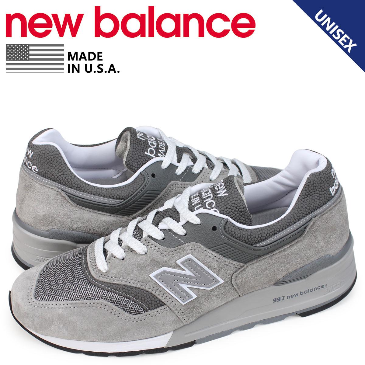 ニューバランス new balance 997 スニーカー メンズ Dワイズ MADE IN USA グレー M997GY