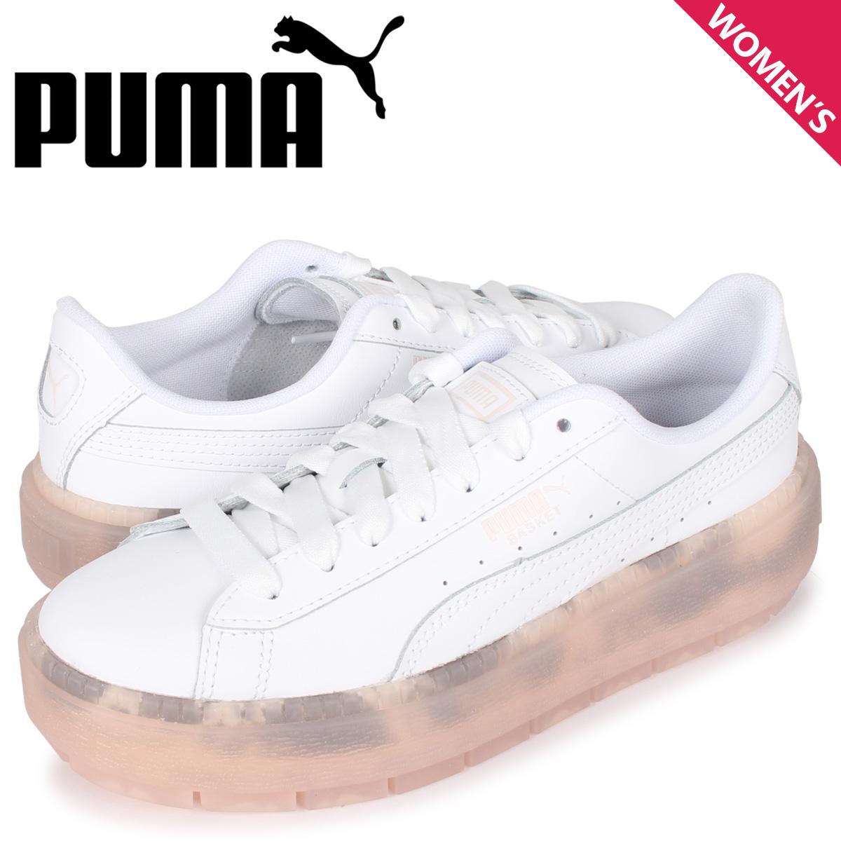 プーマ PUMA プラットフォーム トレース トランスルーセント スニーカー レディース PLATFORM TRACE TRANSLUCENT WNS ホワイト 白 371656-01