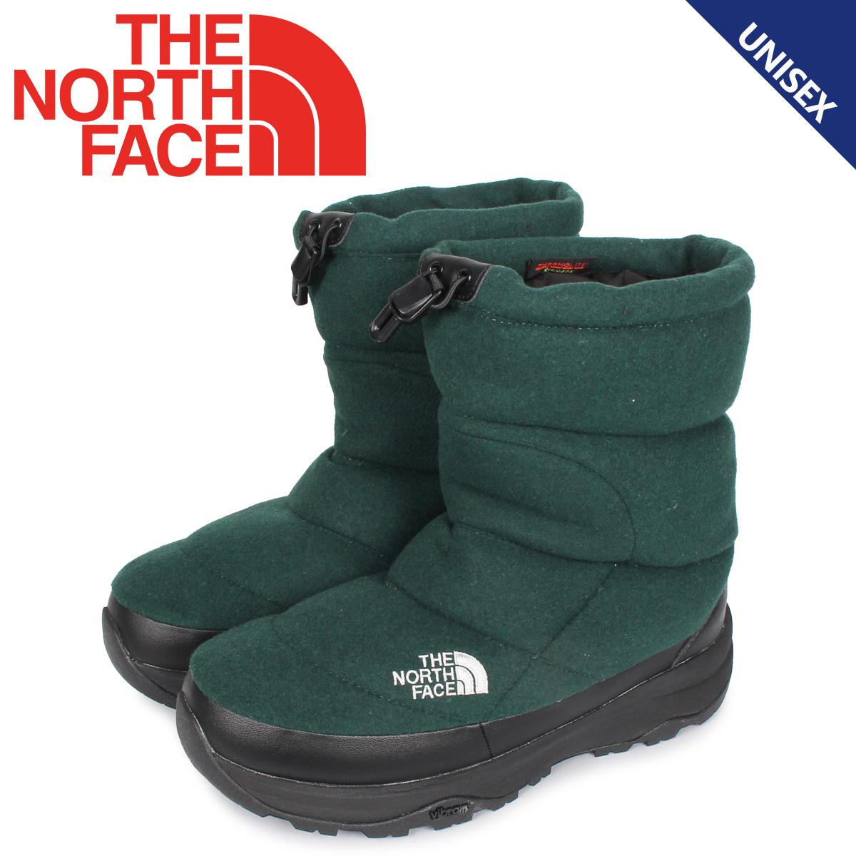 ノースフェイス THE NORTH FACE ヌプシ ブーティ ウール5 ブーツ ウィンターブーツ メンズ レディース NUPTSE BOOTIE WOOL 5 グリーン NF51978