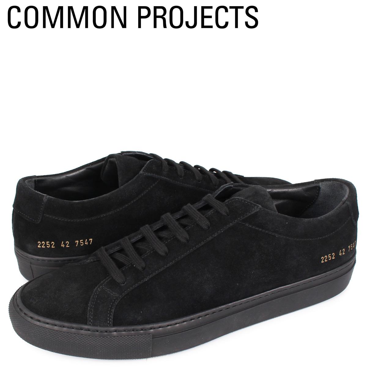 【お買い物マラソンSALE】 コモンプロジェクト Common Projects アキレス ロー スエード スニーカー メンズ ACHILLES LOW SUEDE ブラック 黒 2252-7547