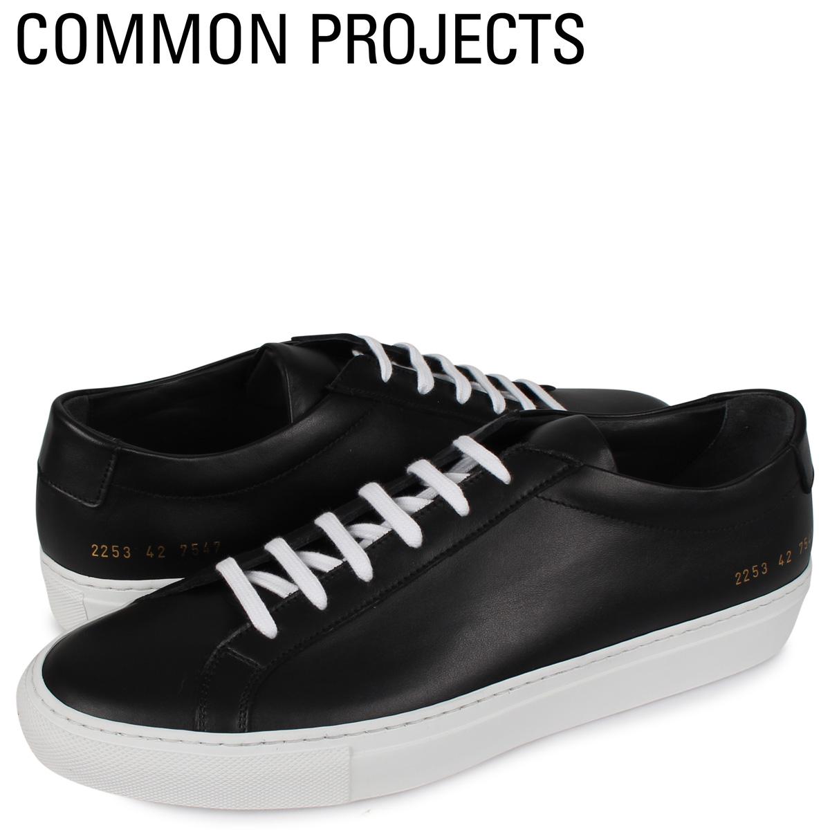 コモンプロジェクト Common Projects アキレス ロー スニーカー メンズ ACHILLES LOW WHITE SOLE ブラック 黒 2253-7547 [4/2新入荷]
