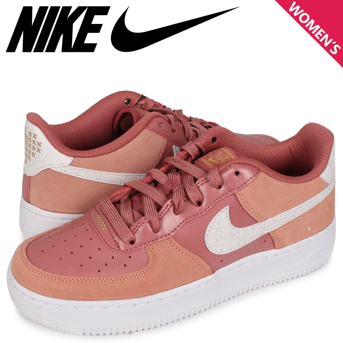 NIKE AIR FORCE 1 LV8 GS VALENTINES DAY ナイキ エアフォース1 スニーカー レディース ピンク CD7407-600 [3/3 新入荷]