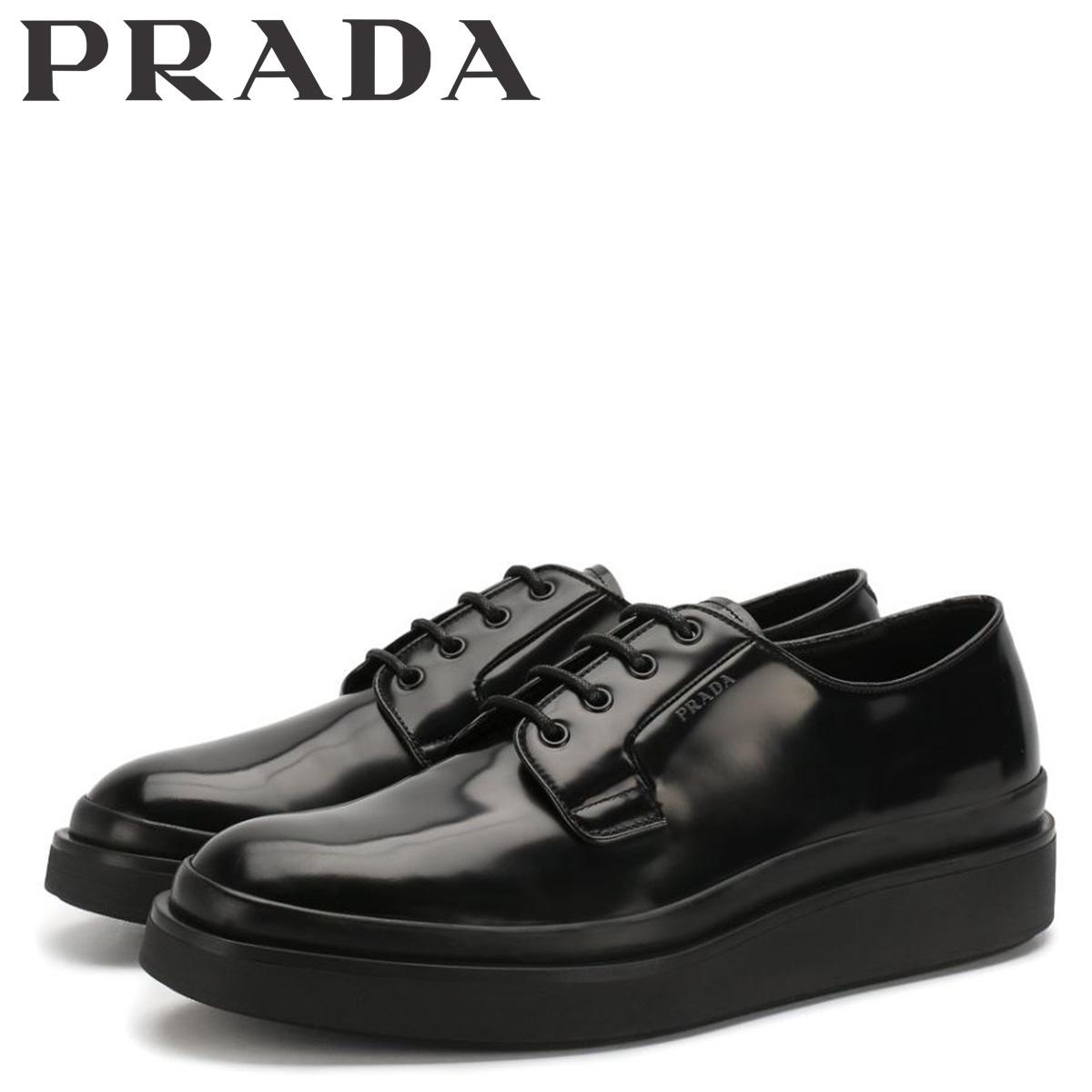プラダ PRADA シューズ ビジネスシューズ メンズ HIGH SOLE LACE UP ブラック 黒 2EE311 [3/3 新入荷]