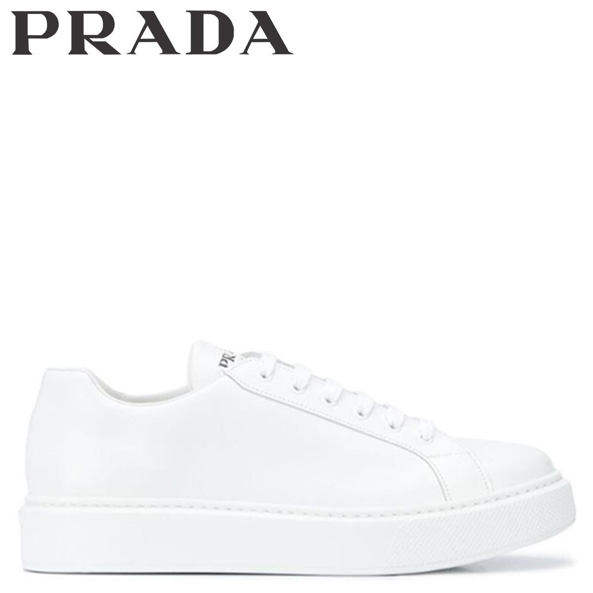 プラダ PRADA スニーカー メンズ NEW SNEAKER FONDO CASSETTA ホワイト 白 4E3489 [3/3 新入荷]
