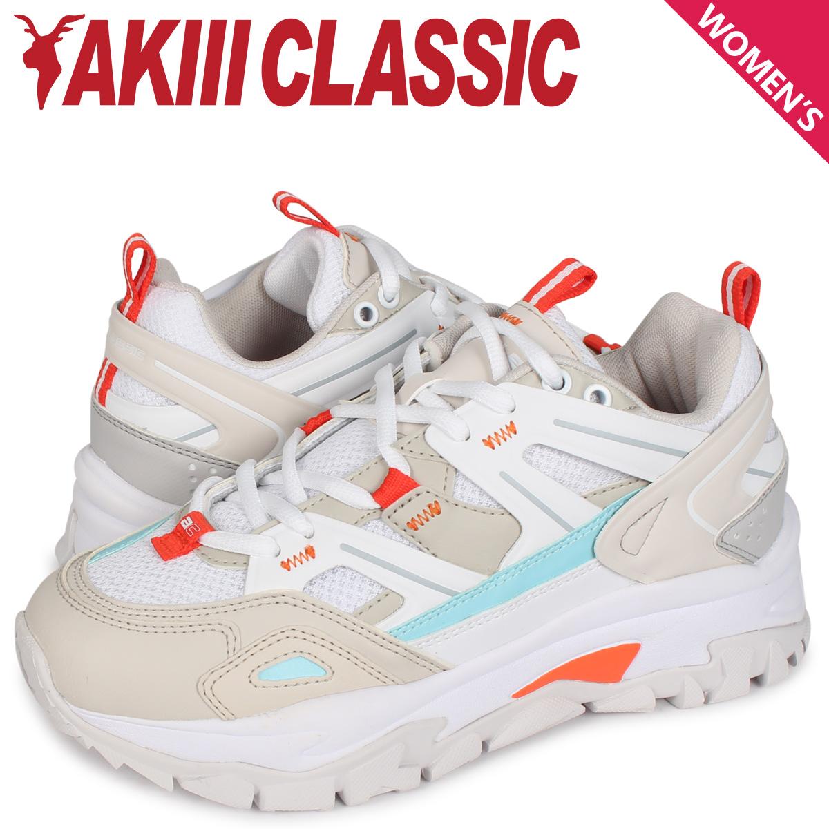 アキクラシック AKIII CLASSIC ランブル スニーカー ダッドシューズ レディース 厚底 RUMBLE ホワイト 白 AKC0001 [4/10 新入荷]