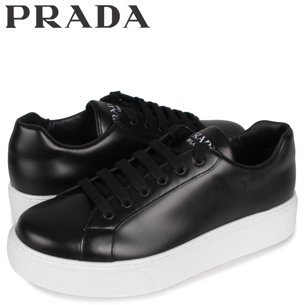 プラダ PRADA スニーカー メンズ NEW SNEAKER FONDO CASSETTA ブラック 黒 4E3489 [5/4 新入荷]