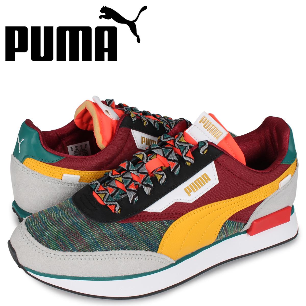プーマ PUMA フューチャー ライダー スニーカー メンズ FUTURE RIDER MIX グリーン 37318402 [4/8 新入荷]