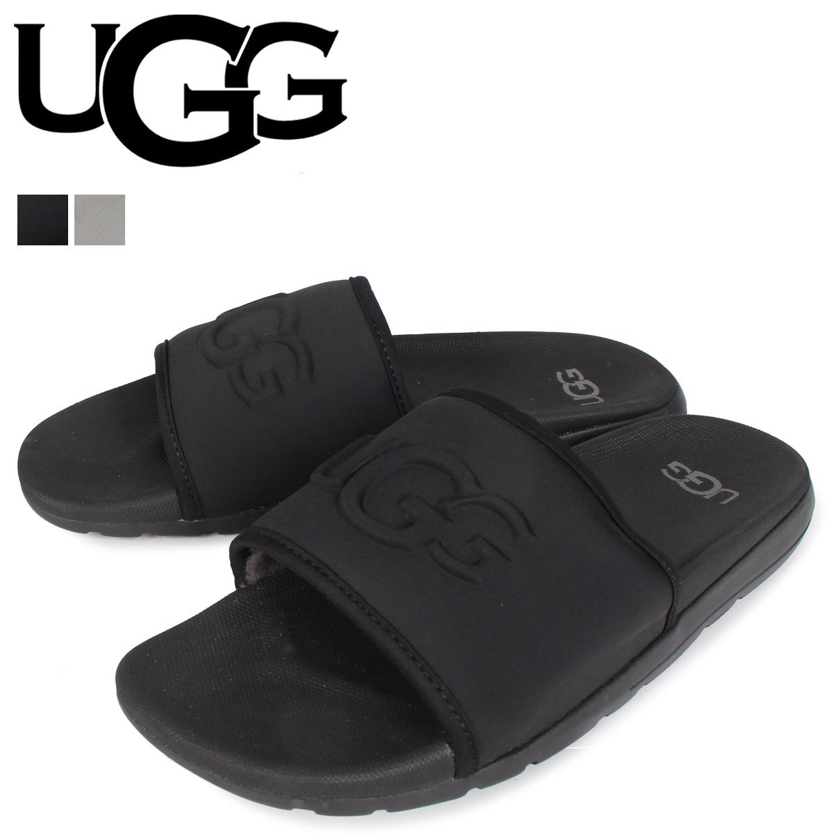 UGG アグ サンダル スライドサンダル ザビエル グラフィック スライド メンズ XAVIER GRAPHIC SLIDE ブラック グレー 黒 1102709 [4/10 新入荷]