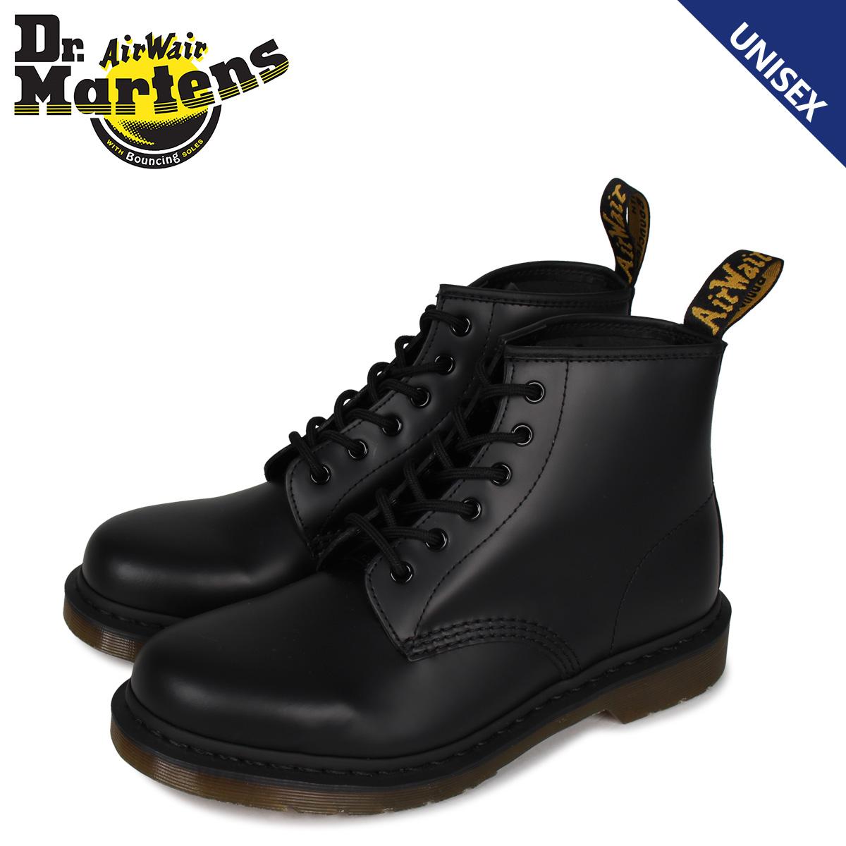 大決算セール 送料無料 あす楽対応 22.5cm-28cm ドクターマーチン 期間限定特別価格 Dr.Martens ブーツ 最大1000円OFF 101 メンズ ブラック 黒 R24255001 6ホール 6EYE レディース BOOTS