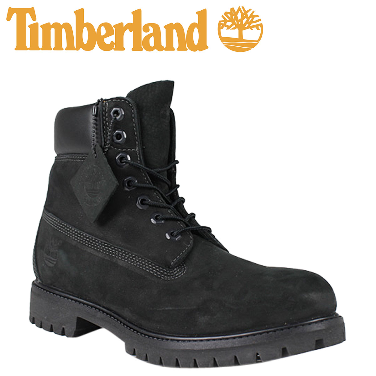 timberland men's 6-inch premium waterproof boots black nubuck