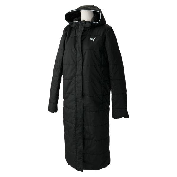 プーマ PUMA コート ロングコート 中綿 WOMENS ブラック PAJ 920199 01