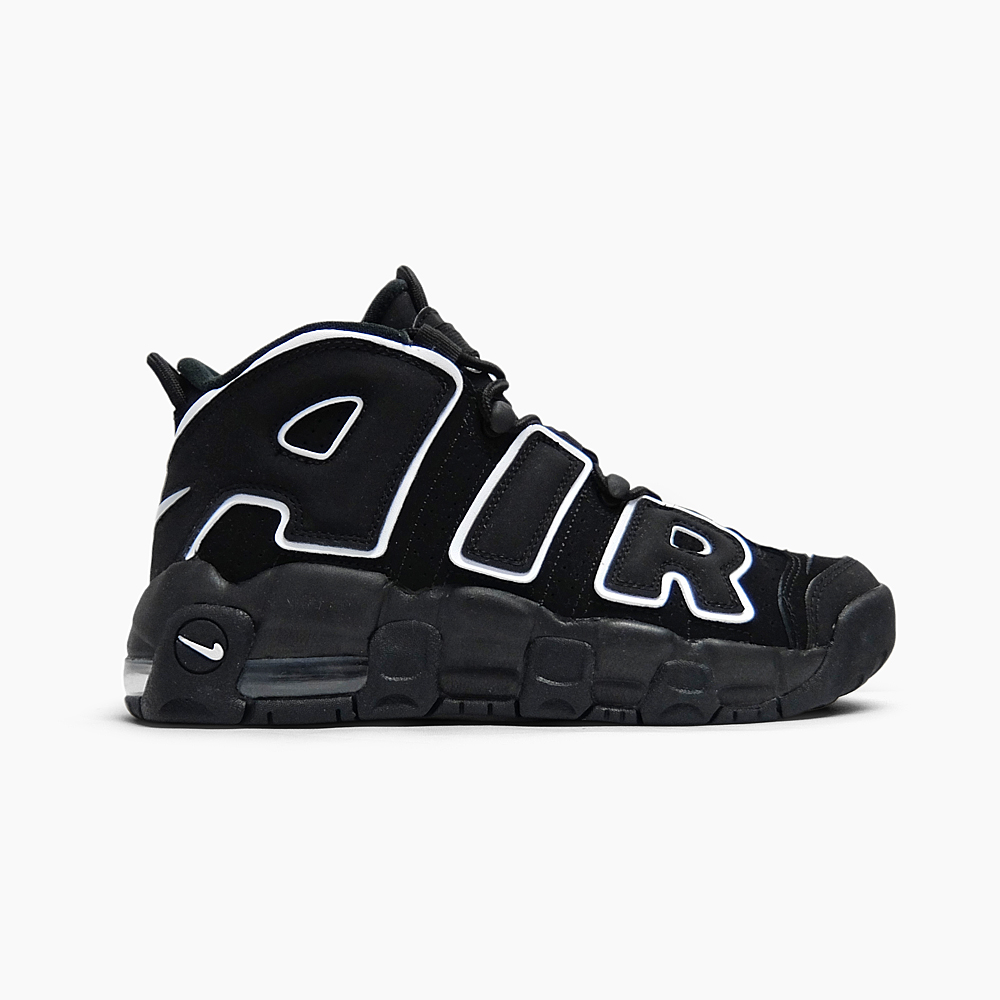 new styles 4e39a 5f921 NIKE AIR MORE UPTEMPO GS 415,082-002 BLACKWHITE-BLACK Nike air more up  tempo Ladys sneakers black white black and white 2016