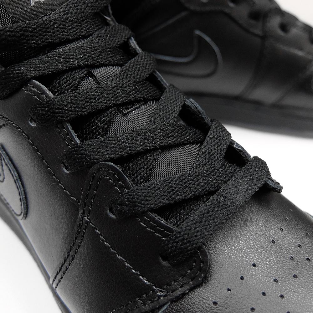 finest selection 18072 6b409 NIKE AIR JORDAN 1 MID BG Nike Air Jordan 1 mid  554725-021 BLACK BLACK-DARK  GREY, WOMEN S GS women s sneakers black grey black grey Air Jordan black