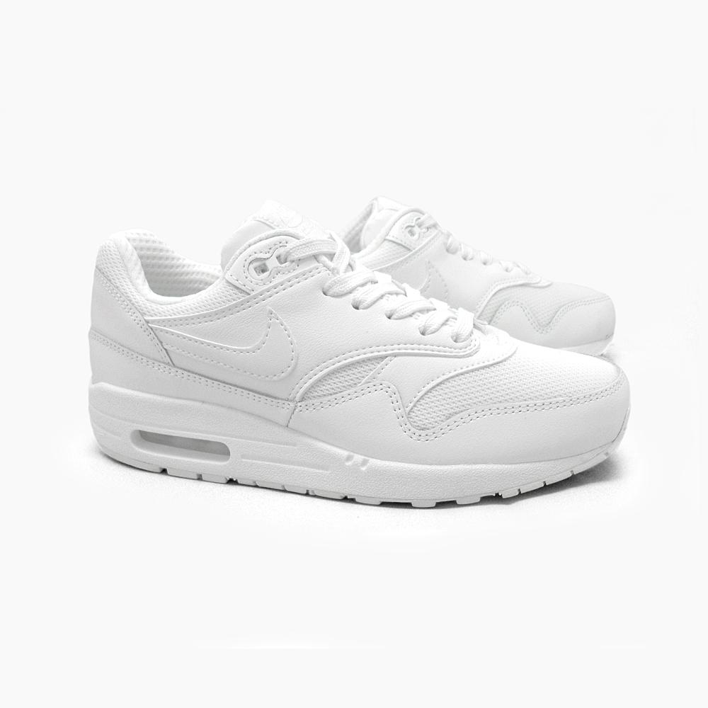 best sneakers 5ae34 12ef1 ... NIKE AIR MAX 1 GS WHITE 555766-119 Nike Air Max 1 Nike sneakers Womens  ...