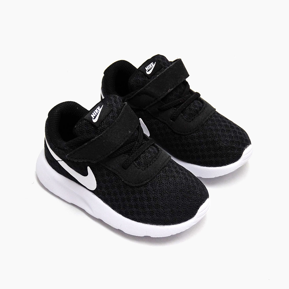 on sale d6b3b 6a2a6 NIKE TANJUN TDV 818383-011 BLACK WHITE Nike Tanjung baby toddler kids  Velcro sneakers black white black white