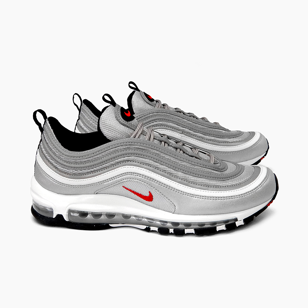 NIKE AIR MAX 97 OG QS [884,421 001 METALLIC SILVERVARSITY RED] Kie Ney AMAX 97 OG QS metallic silver bar city red Air Max air max men sneakers