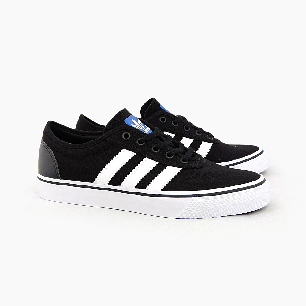 ADIDAS SKATEBOARDING ADI-EASE C75611 BLACK/WHITE/BLACK adidas sneakers  skate shoes men's ADIDAS ORIGINALS originals Black canvas leather  skateboard shoes ...