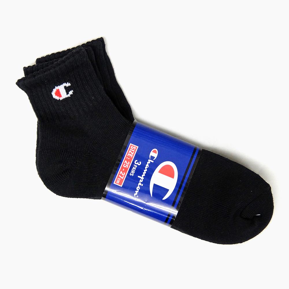 冠军 3 p 充分双季长度袜子 [CMSCH202 白黑灰、 3 双袜子男式袜子白色黑色灰色标志黑白灰运动鞋袜子短袜子踝关节