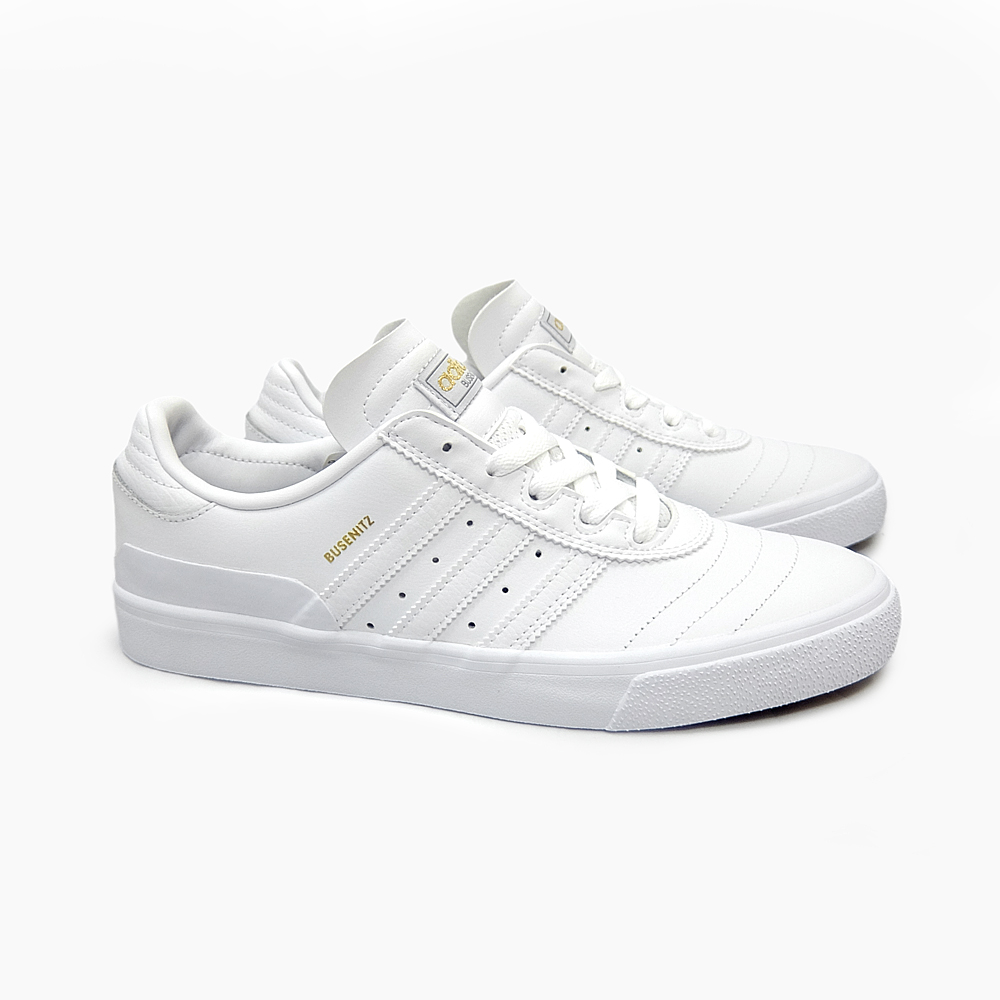 ADIDAS SKATEBOARDING adidas skateboarding MEN's BUSENITZ VULC D68837  WHITE/WHITE busenitz Barca sneakers men's all white leather