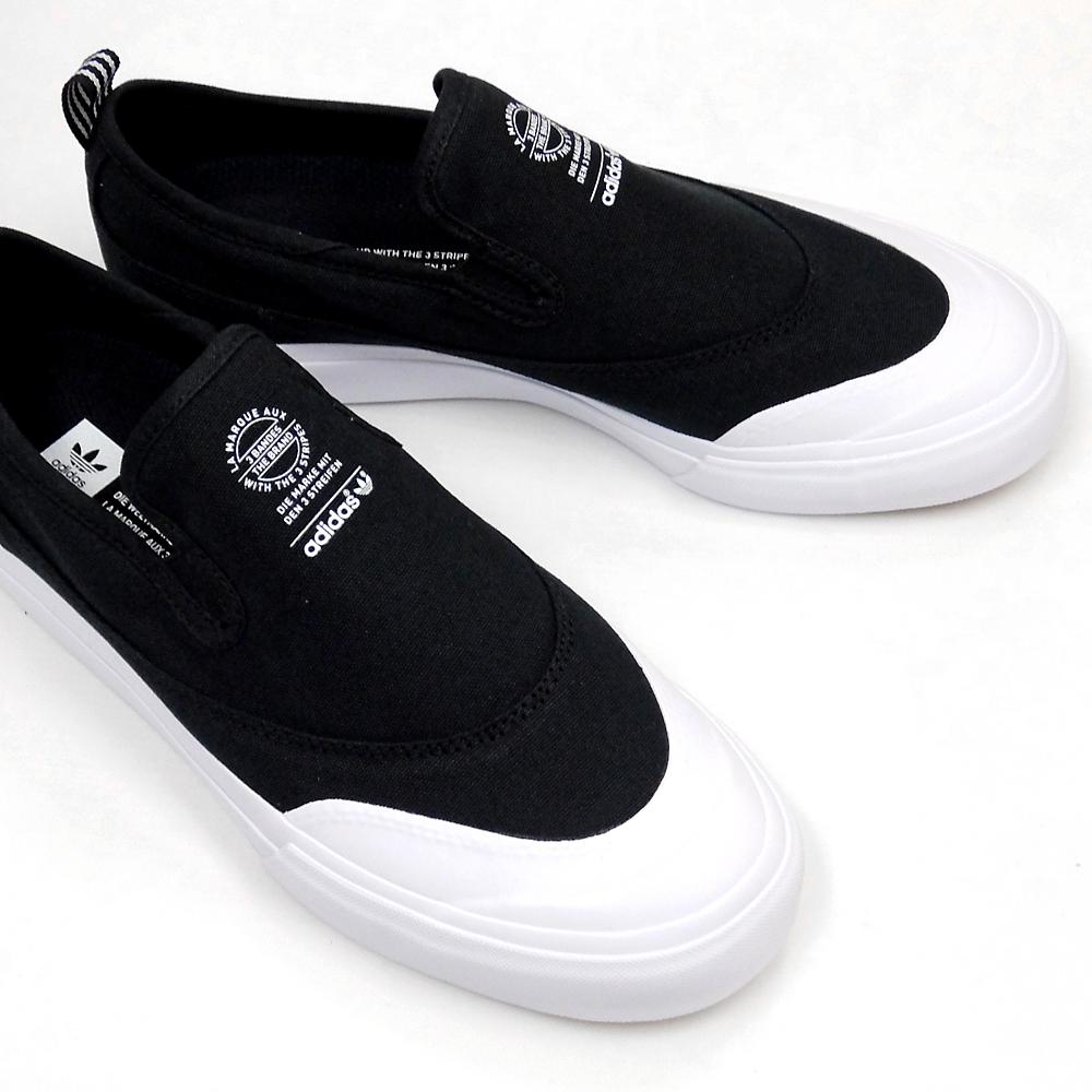 d82bf3eb1 ADIDAS Adidas sneakers slip-ons skating shoes men MATCHCOURT SLIP F37387  BLACK WHITE WHITE ADIDAS SKATEBOARDING match coat slip black black スケートボード  ...