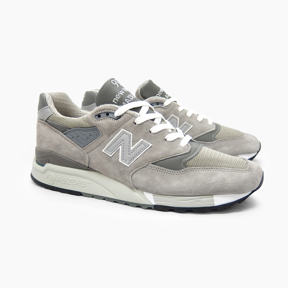 official photos ffd75 6c378 NEW BALANCE New Balance 998 M998 MADE IN U.S.A. GREY M998GY gray NEWBALANCE  men gap Dis New Balance sneakers suede running shoes