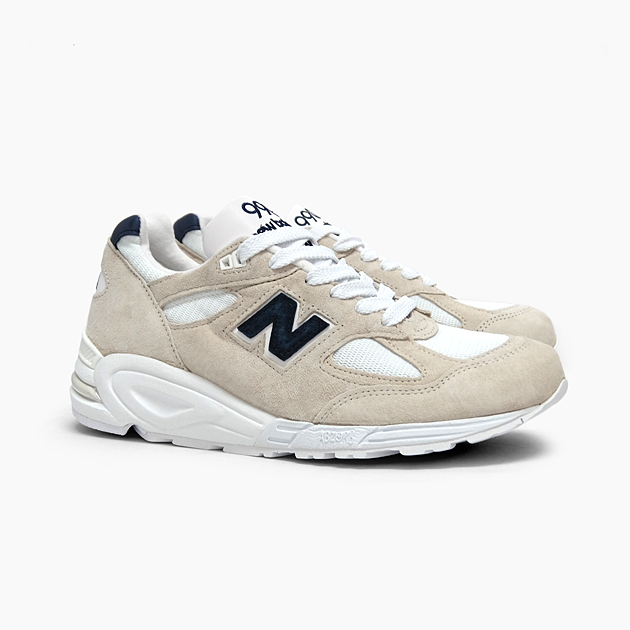 official photos 7ce86 eda50 NEW BALANCE New Balance men sneakers M990 MADE IN U.S.A. OFF  WHITE/GREY/NAVY M990WE2 CLASSICS white gray navy suede MEN'S shoes running  shoes New ...