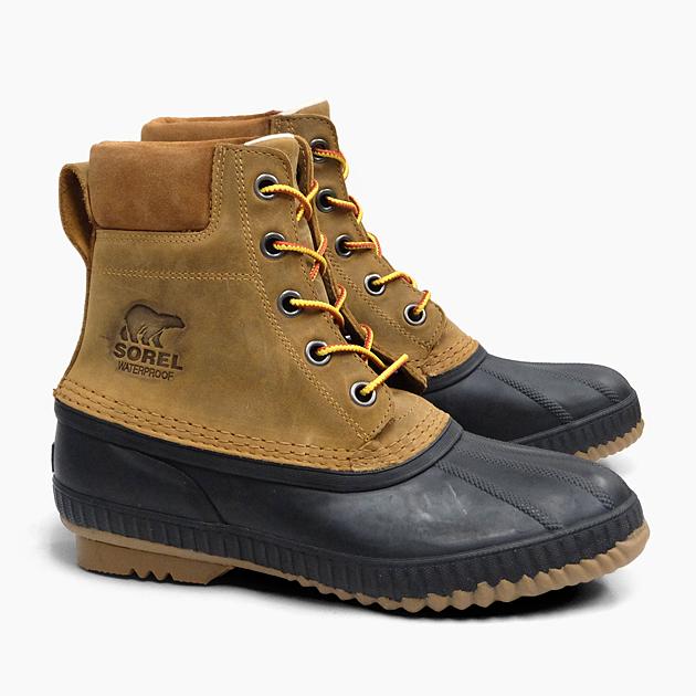 SOREL CHEYANNE II CHIPMUNK BLACK NM2575 224 ソレル ブーツ メンズ 定番 ウィンターブーツ ナイロン 防水 防寒 耐寒 シャイアンII 冬用 スノーブーツ プレゼント