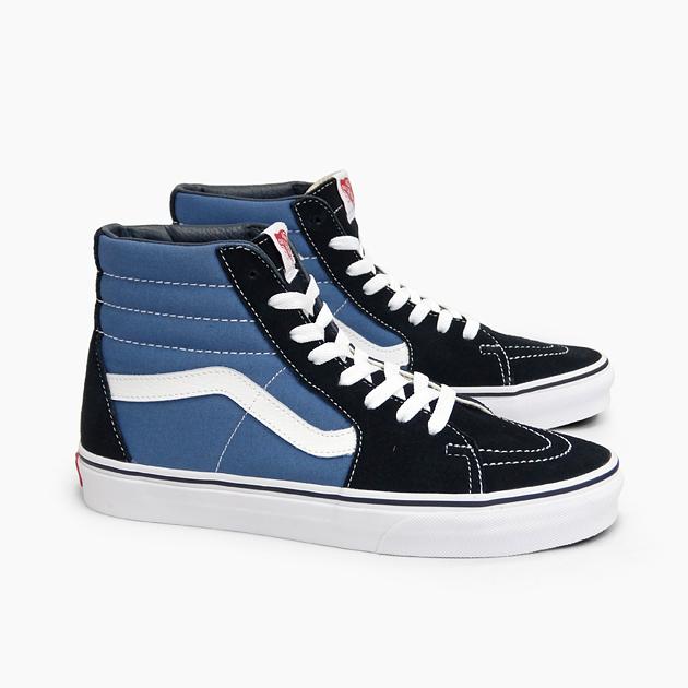 Mens beautiful vans sk8 hi (navyblack) men vans sneakers