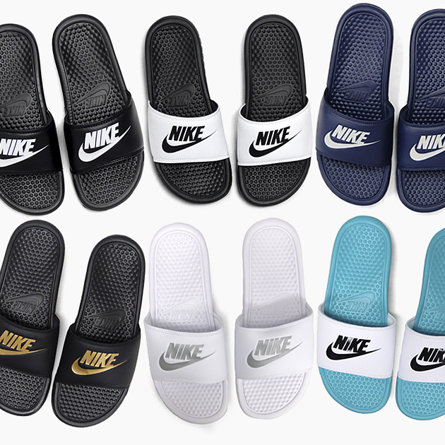 detailed look 1951b 327a2 NIKE BENASSI JDI 343880 [090 100 403 016 107 303] ナイキベナッシ JUST DO IT  sandals Lady's men rest room sandals slippers beach ぺたんこ black and white  navy ...