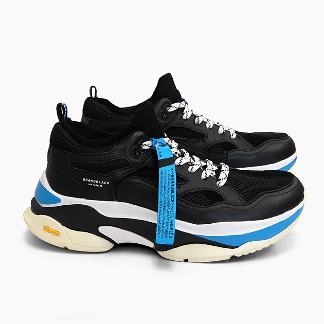 ブランドブラック メンズ スニーカー サガ BRANDBLACK SAGA [BLACK BLUE 426BB-BKBL] 黒 青 ブラック ブルー 靴 ダッドスニーカー