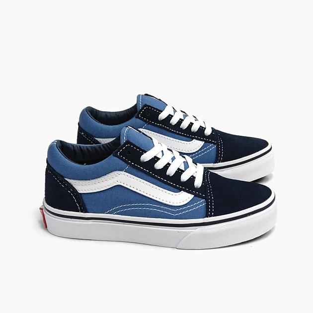Vans old school kids VANS OLD SKOOL K [NAVYWHITE VN000W9TNWD] USA plan navy dark blue suede canvas sneakers KIDS SHOES OLDSKOOL child shoes present