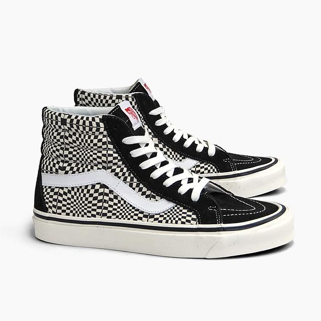 VANS vans skating high SK8 HI 38 DX [(ANAHEIM FACTORY) OG BLACKWHITEWARP CHECK VN0A38GFVMY] warp checkerboard pattern VANS SNEAKER WOMEN'S LADIES