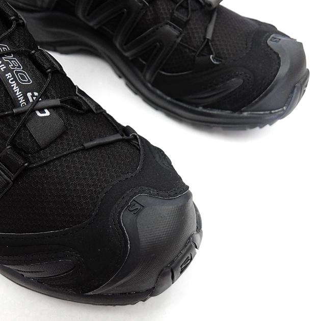 Trekking shoes SALOMON Salomon XA PRO 3D GTX W[BLACKBLACKMINERAL GREY L39332900] Salomon Lady's trekking shoes Gore Tex GORE TEX sneakers black