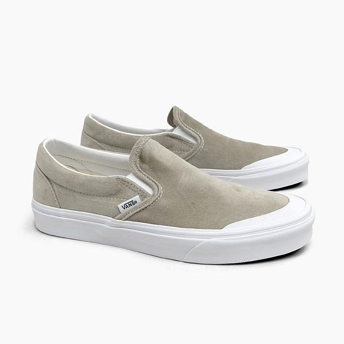 Vans classical music slip ons men gap Dis VANS CLASSIC SLIP ON (VELVET) GRAYTRUE WHITE VN0A4P3CTCH sneakers velvet gray MEN'S LADIES