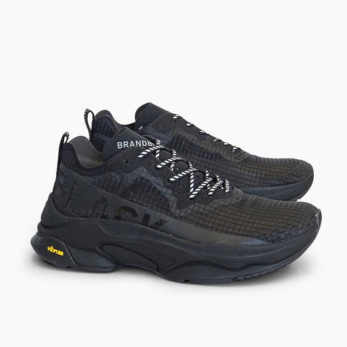 【並行輸入品】 ブランドブラック メンズ レディース スニーカー カイトレーサー BRANDBLACK KITE RACER [BLACK 427BB-OG-BLK] 黒 オールブラック 厚底 ランニングシューズ 軽量 靴 SNEAKER MEN'S LADIES WOMEN'S プレゼント