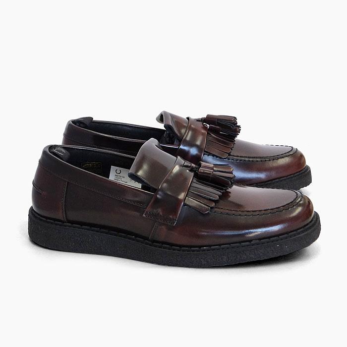 フレッドペリー ジョージコックス タッセル ローファー ダークレッド FRED PERRY GEORGE COX TASSEL LOAFER OX BLOOD B9278 158 メンズ レザー 本革 シューズ 紳士靴