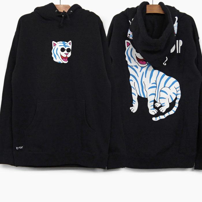 RIPNDIP リップンディップ パーカー COOL CAT HOODIE BLACK メンズ/レディース RIP N DIP スウェット プルオーバー 黒 パーカ フーディー プリント スケートボード ストリートブランド 猫