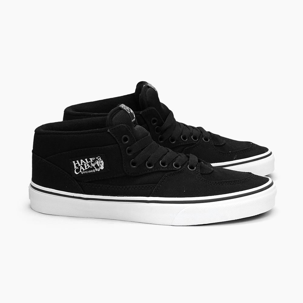 43a1173335 VANS vans mens Womens sneaker CLASSICS HALF CAB 14 oz CANVAS BLACK  VN-0KWY1W1 half cab canvas vans sneakers USA skateboard shoes Black Black  skate shoes ...