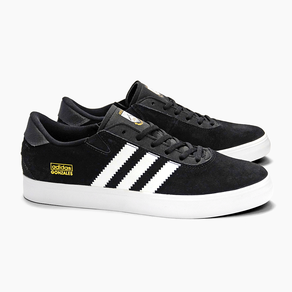 ADIDAS adidas sneakers skate shoes mens GONZ PRO Q33324 BLACKWHITEBLACK ADIDAS ORIGINALS