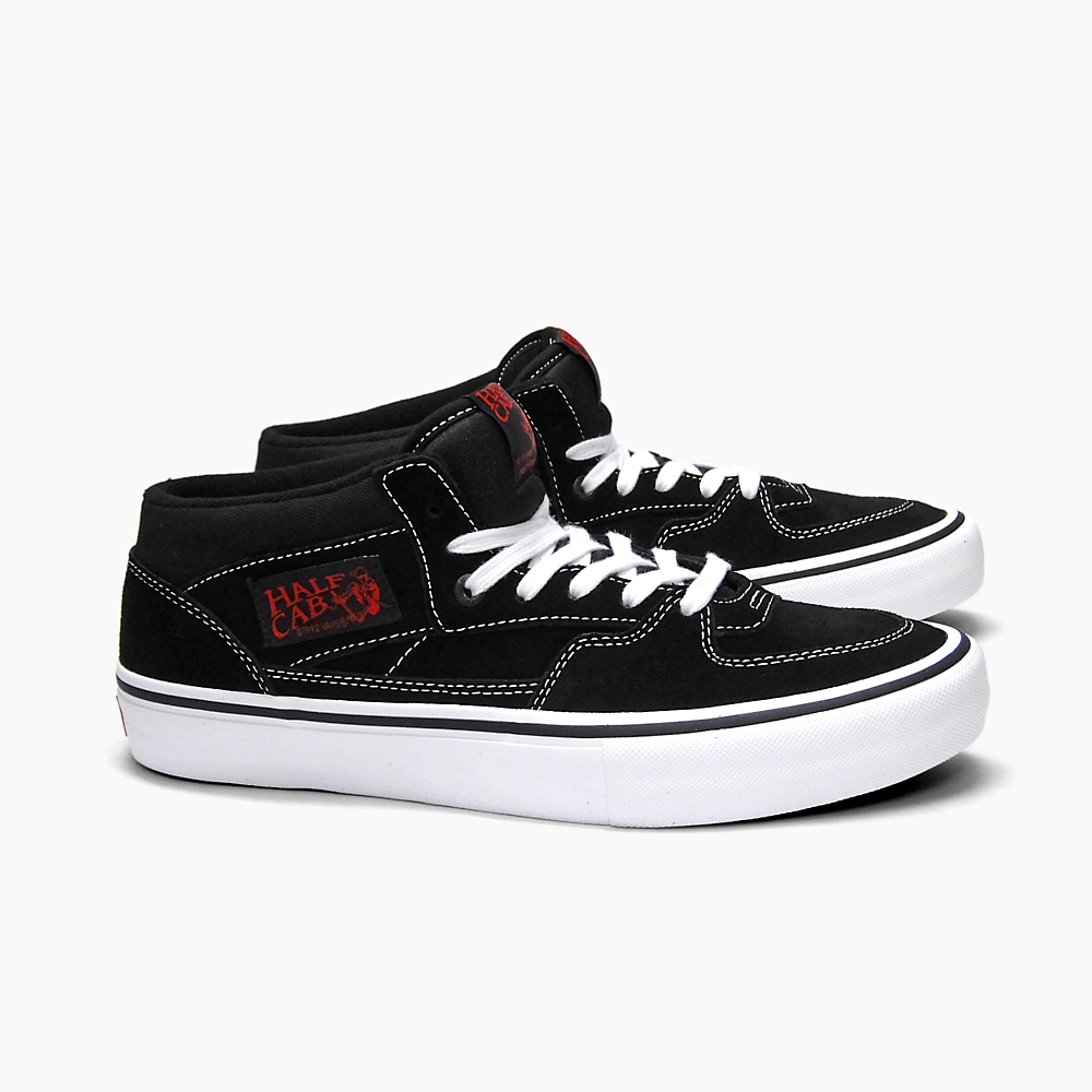 VANS vans sneakers skating shoes men PRO SKATE MEN S HALF CAB PRO BLACK  WHITE RED VN000VFDBWT ハーフキャブシューズスケシュー VN-0VFDBWT vans sneakers USA ... 0828fde71