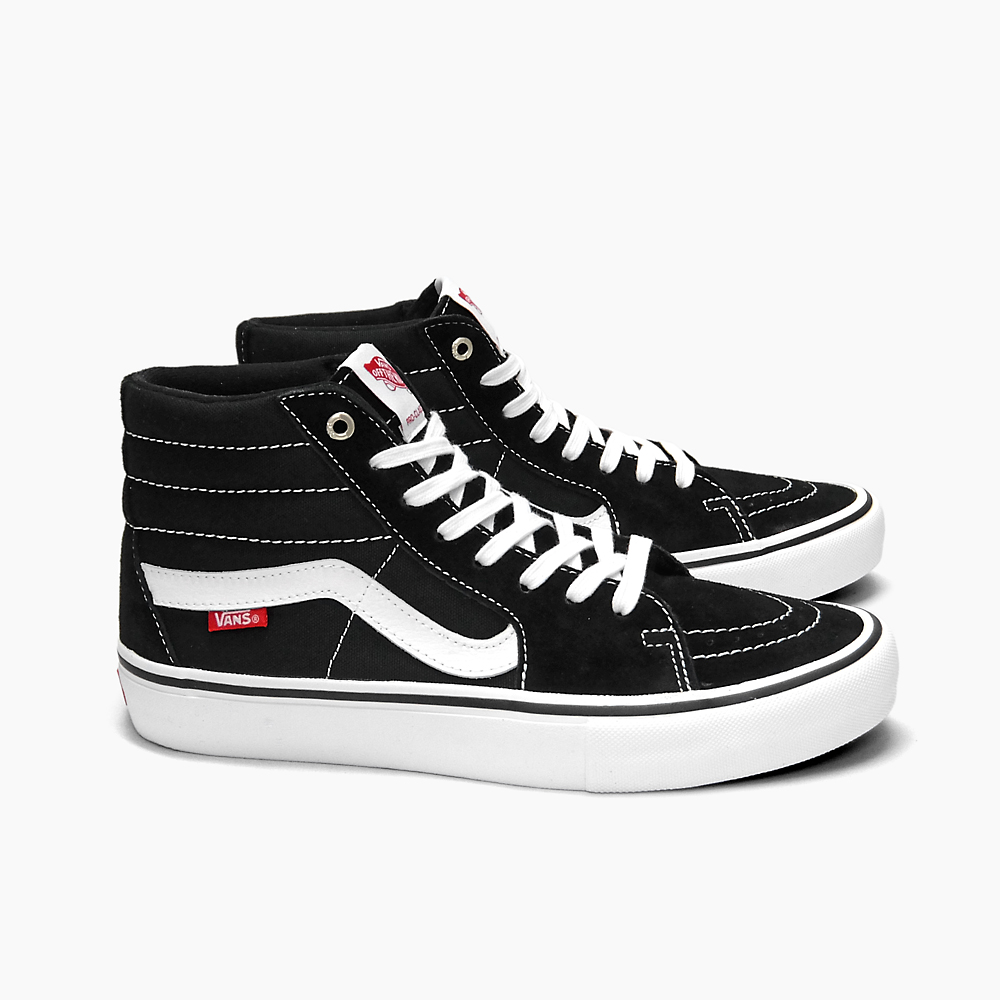 09a4eae3f40 VANS vans sneakers skating shoes men PRO SKATE MEN S SK8-HI PRO BLACK WHITE  ...