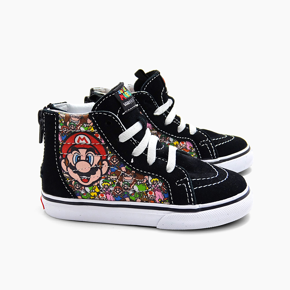 7533ecc1d9 VANS NINTENDO SK8-HI ZIP VN000XG5K5P (NINTENDO)MARIO   LUIGI TRUE WHITE  vans  Nintendo collaboration skating high zip kids Mario Indre aegis Kate higher  ...