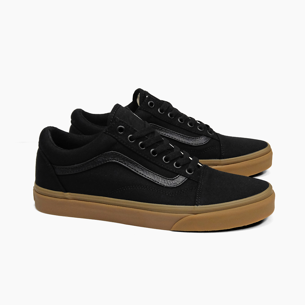 VANS卡车老学校MEN'S OLD SKOOL(CANVAS)BLACK/LIGHT GUM VN0A31Z9L0D vans运动鞋旅行车人运动鞋OLDSKOOL滑板鞋溜冰鞋黑口香糖鞋底SNEAKER SKATE SHOES鞋帆布