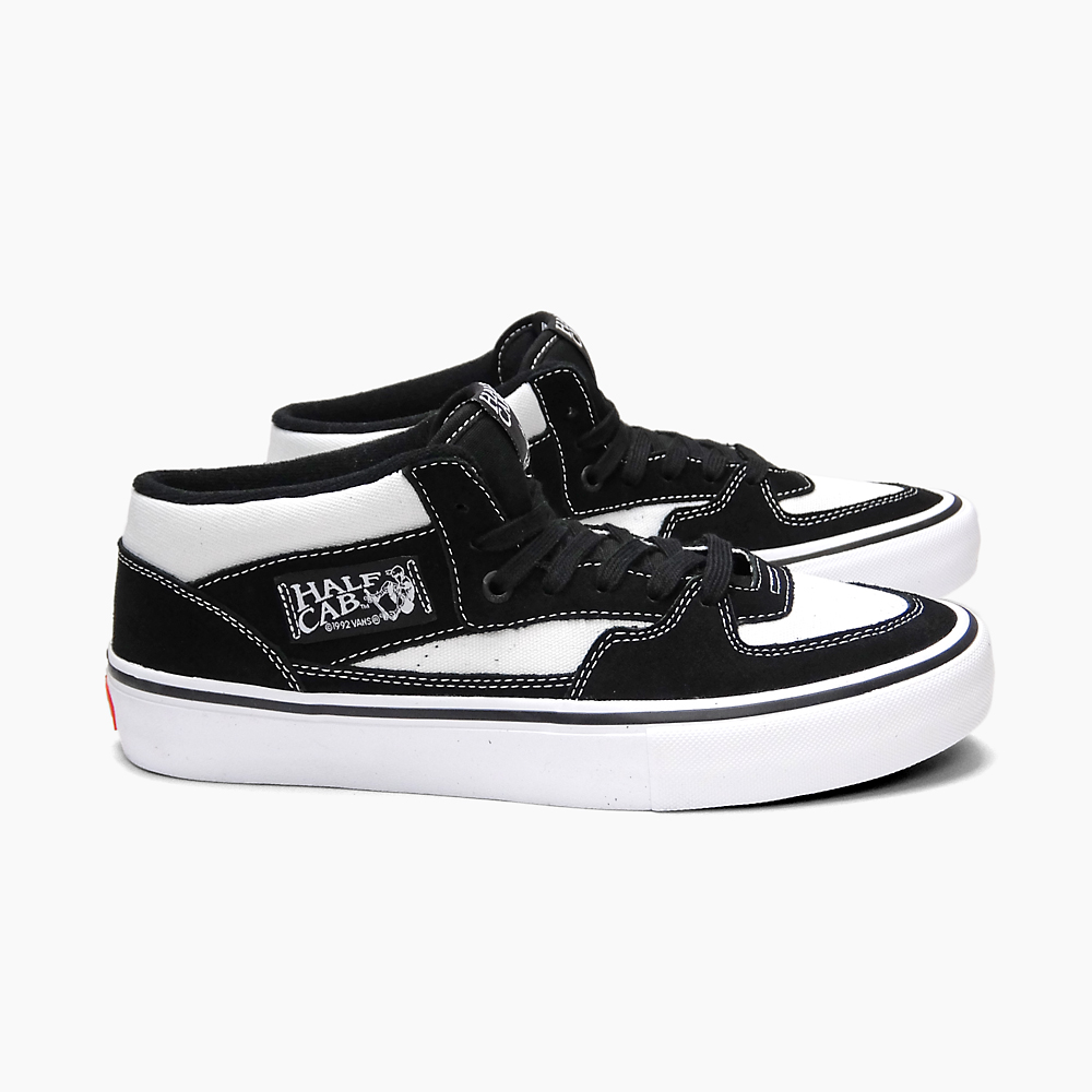 7eee1e91f6 VANS vans sneakers skating shoes men PRO SKATE MEN S HALF CAB PRO  WHITE BLACK WHITE VN0A38CPYX4 ハーフキャブシューズスケシュー black and white white black  ...