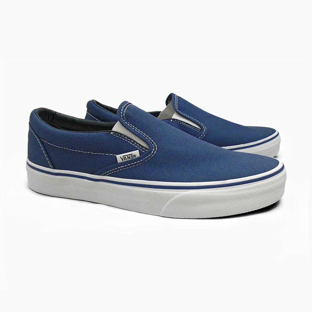 f425ae181e VANS vans ladies mens sneakers slip-on CLASSICS CLASSIC SLIP-ON NAVY WHITE  VN-0EYENVY classic slip-on classic vans slip-on vans sneakers USA vans  limited ...