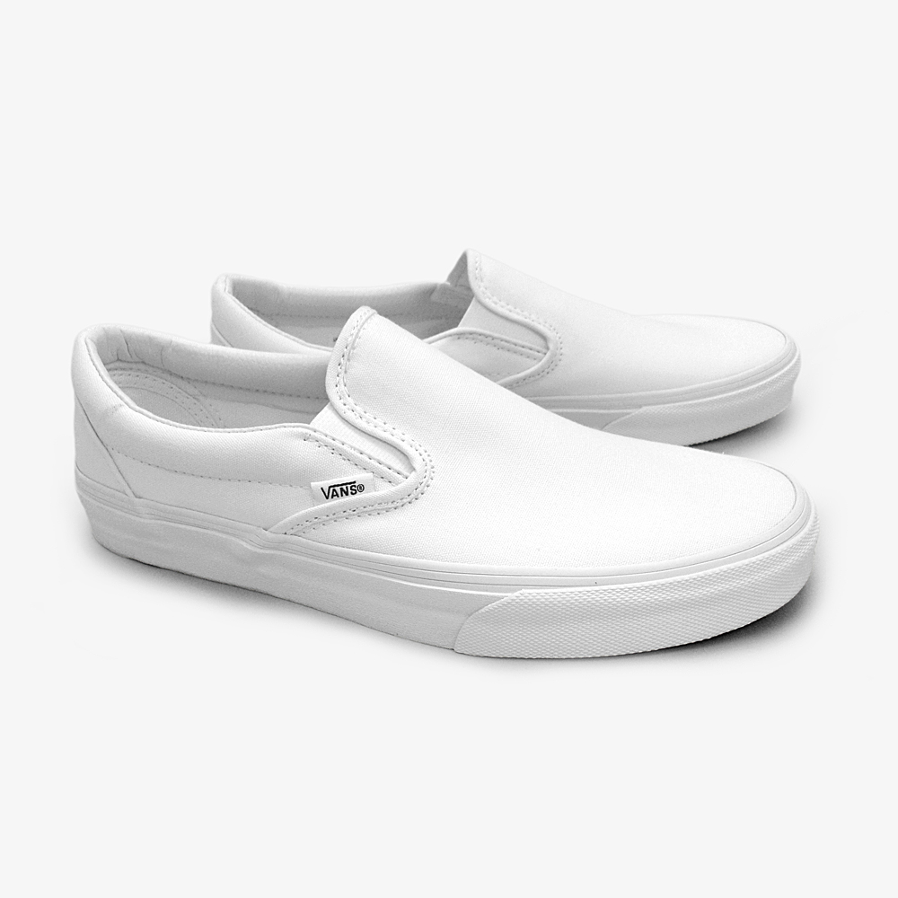 vans shoes slip on white