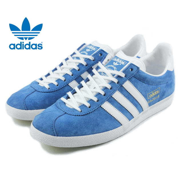 adidas gazelle blue gold