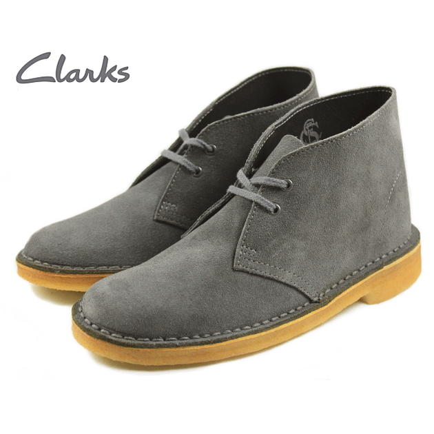 clarks grey desert boots