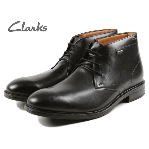 Clarks Clarks CHILVER HI GTX silver high Gore-Tex black leather 402 E-B