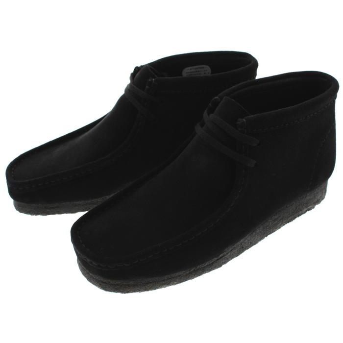 定番 クラークス Clarks シューズ ワラビーブーツ Wallabee Boot ブラックスエード 980E-BS 【FMFO】